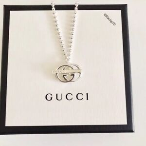 Details about New GUCCI Britt Double G Logo Bar Toggle Necklace 16\u201d  Authentic!