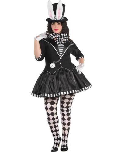 Foncé Mad Hatter Costume Femmes UK 8-20 Evil Alice Halloween Fancy Dress pour Femme