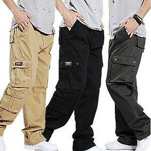 Brand-New-Men-Army-Cargo-Combat-Camo-Overall-Casual-Relaxed-Long-Pants-Trousers