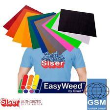 Siser EasyWeed Heat Transfer Vinyl 12 X 15 12color Starter Bundle