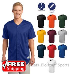 a103f442e Mens Baseball Jersey Dri-Fit Tough Mesh Henley Full Button Shirt ...