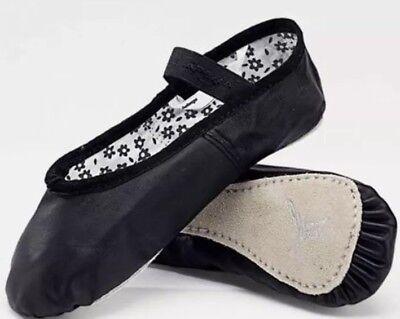 NEW Capezio Daisy 205X Black Leather Ballet Shoes Toddler Child's Size 6.5 M
