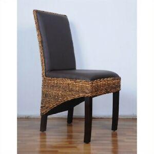 Image Is Loading International Caravan Bali Salma Woven Abaca Dining Chair