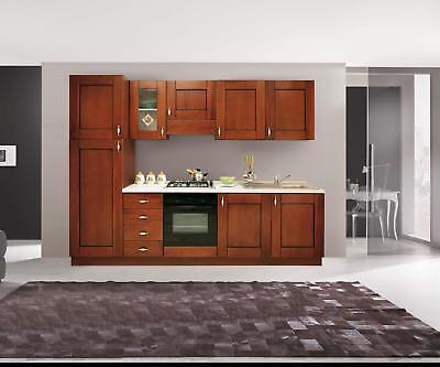 Pensili mobili cucina componibile classica noce arte povera h72 SOLO  PENSILI | eBay