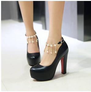 Details about Women s High Heels Pointed Toe Stiletto Pumps Platform Party  Wedding Ankle Shoes