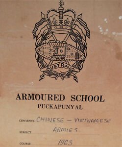 VIETNAM-WAR-AUSTRALIAN-ARMY-ARMOURED-SCHOOL-CHINESE-VIETNAMESE-PAM-1963-BOOK