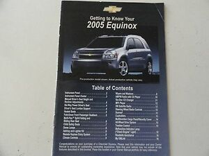 2005 chevrolet chevy equinox quick reference guide owners manual rh ebay com 2005 Chevy Equinox Problems 2005 chevy equinox owners manual pdf