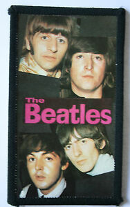 THE-BEATLES-Original-Vintage-1980-s-Sew-On-Photo-Card-Patch-not-shirt-lp-cd-pin