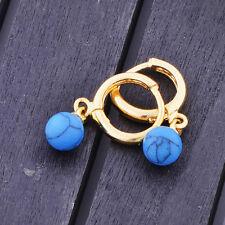 Kid Girls Childrens cute Turquoise drop earrings Jewelry 14K gold fiiled Cheap
