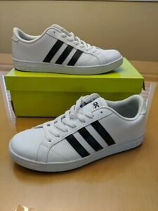 Details about Adidas Neo Cloudfoam Memory Footbed White Black Stripe Mens Size8.5 Tenni Shoes