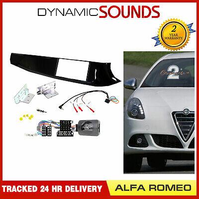 CT23AR04 ALFA ROMEO MITO 2008 to 2012 DOUBLE DIN BLACK or SILVER FASCIA FITTING