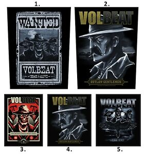"VOLBEAT Skull Shield Iron On Sew On Giant XL Back Patch 11/""x9.8/"""