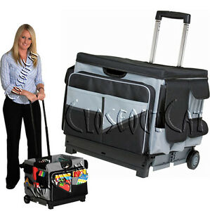 e95dc35290e NEW Memory Stor ROLLING ORGANIZER PULL CART Teacher Office File Tool ...