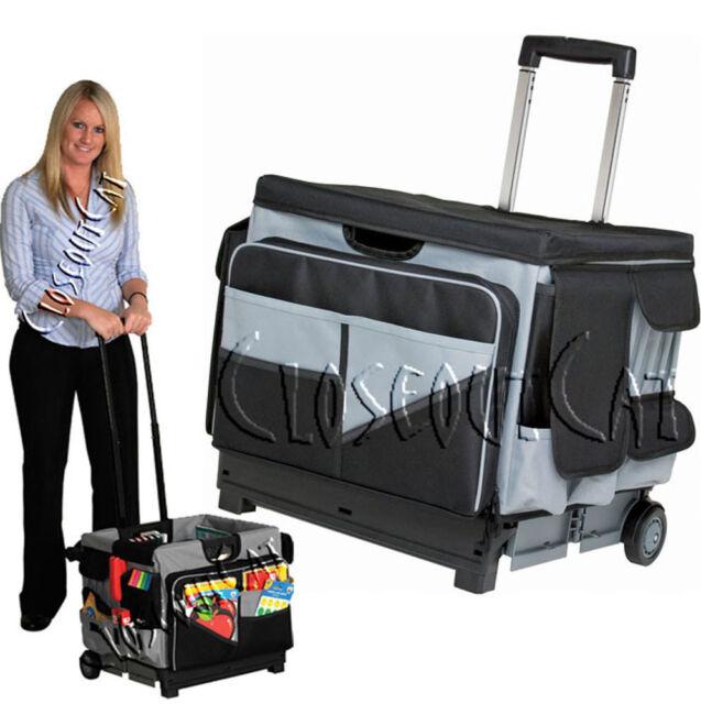 New Memory Stor Rolling Organizer Pull Cart Teacher Office File Tool Storage Bag