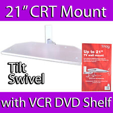 "TROY 21"" CRT OLD STYLE TV WALL MOUNT BRACKET DVD SKY VCR SHELF UNDER 30KG MAX"
