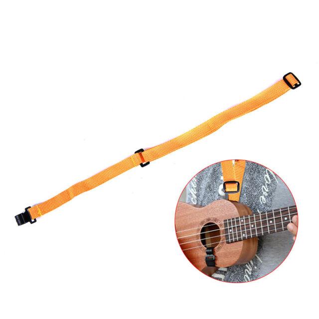 1pc Adjustable Nylon Ukulele Strap Guitar Hang Neck Music Instrument Straps HU