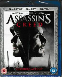 Assassin-039-s-Creed-3D-Blu-Ray-Blu-Ray-Digital-Brand-New-amp-Sealed