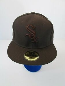 Chicago White Sox Brown Baseball Hat Cap MLB Fitted sz 7 59fifty 3D ... 1bf0c92ad7d7