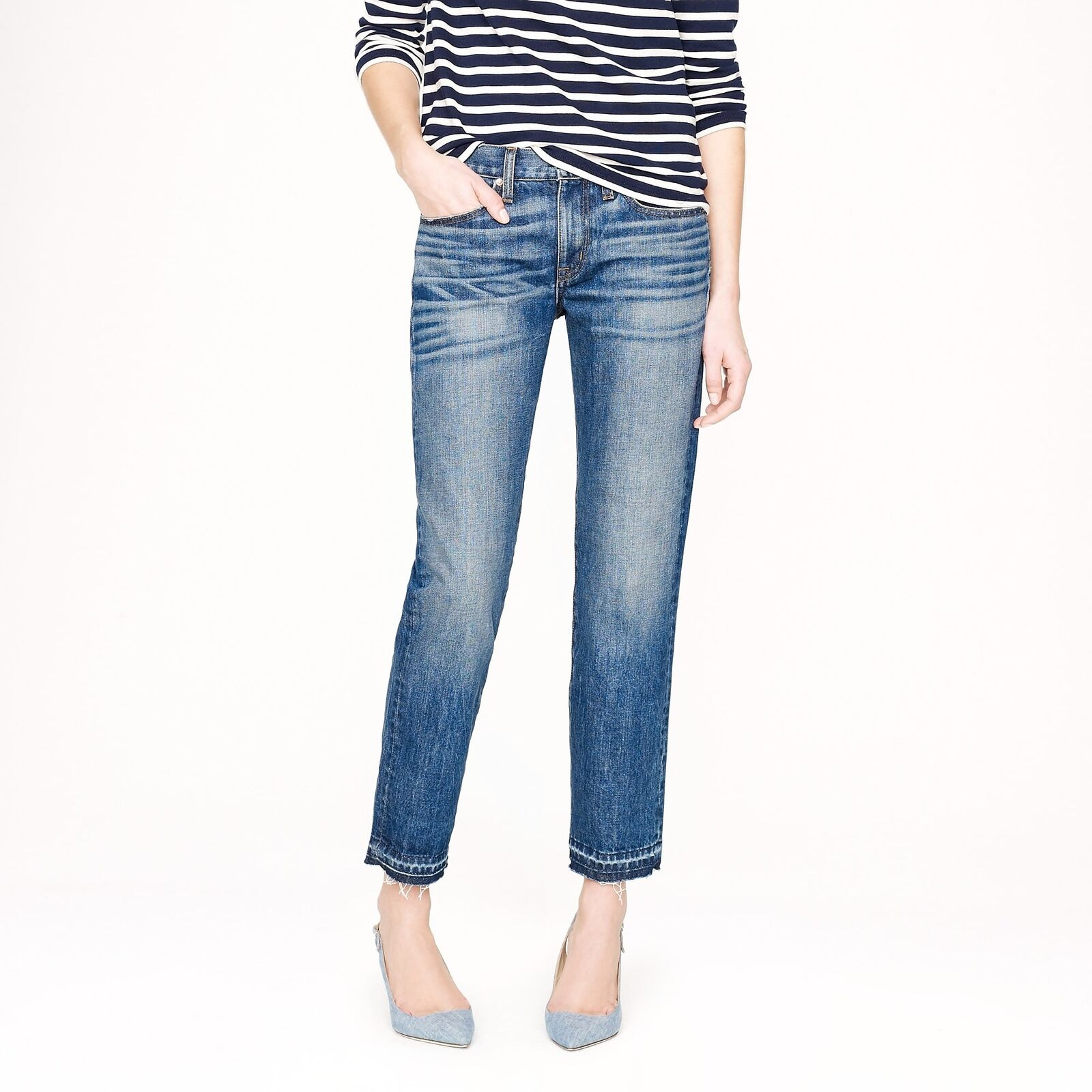 NWT J. Crew Point Sur vintage cropped jean in griffin wash size 25