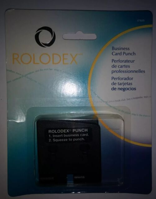 Rolodex One Sheet Business Card 2 Hole Punch For 225 X 4 Inches