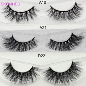 SKONHED-3D-Siberian100-Mink-Hair-False-Eyelashes-Fluffy-Cross-Lashes-3-Styles