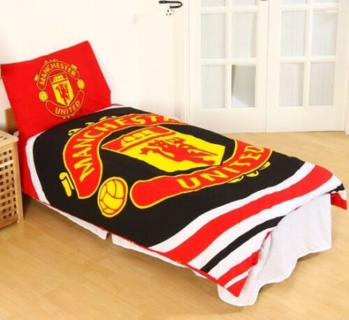 Manchester Utd FC Football Club PULSE Design Reversible Duvet Cover Set Red