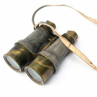 Binoculars Antique Brass Leather Belt Vintage Style Collectible Decorative Gift