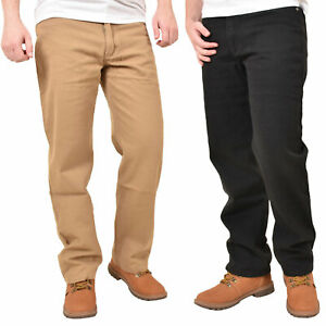 Mens-Regular-Fit-Jeans-Cotton-Denim-Straight-Leg-Trousers-Casual-Pants-Bottoms