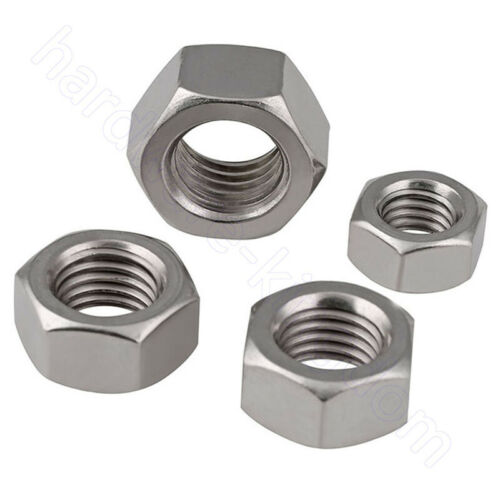 Hex Nuts A2 Stainless Hexagon Nut M1 1.2 1.6 2 2.5 2.6 3 3.5 4 5 6 8 10 12 16-33