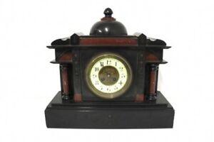 Franzoesische-Pendule-Schiefer-Marmor-Kamin-Uhr-R45