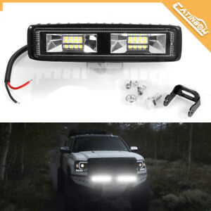1X 48W LED Arbeitscheinwerfer 16LEDs Flutlicht Nebel Lampe Strahler SLKW SUV 12V
