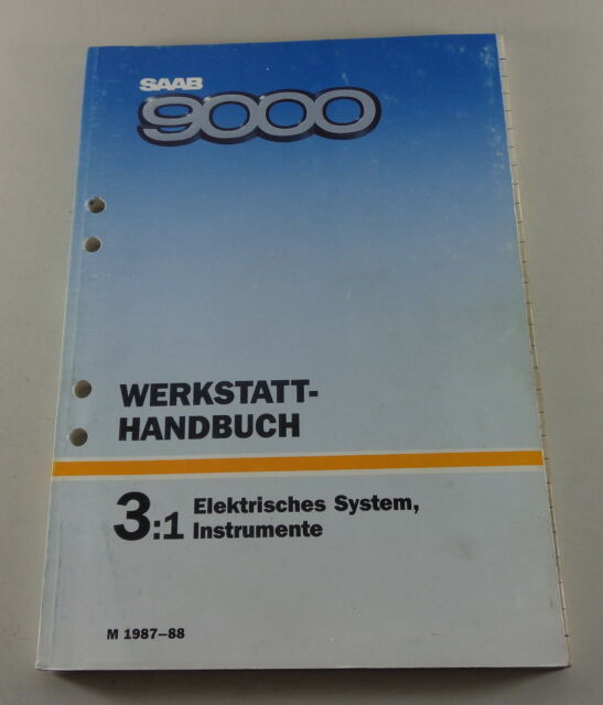 Workshop Manual Saab 9000 Electric System Instruments