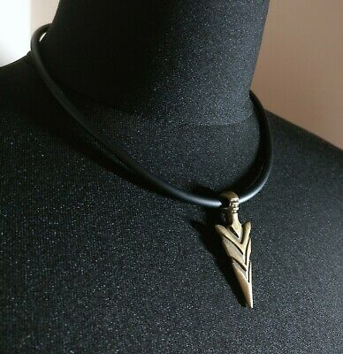Silver tone Arrowhead pendant  Surfer choker man Necklace Gift
