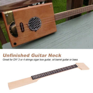 maple guitar neck 21 fret rosewood fretboard for cigar box guitar bass diy parts 813496630886 ebay. Black Bedroom Furniture Sets. Home Design Ideas