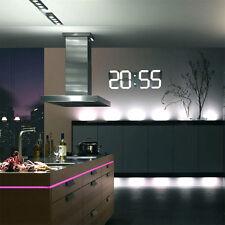 3D Moderne LED Mural Horloge Numérique 24 / 12 Lumineux télécontrôlé EU Prise