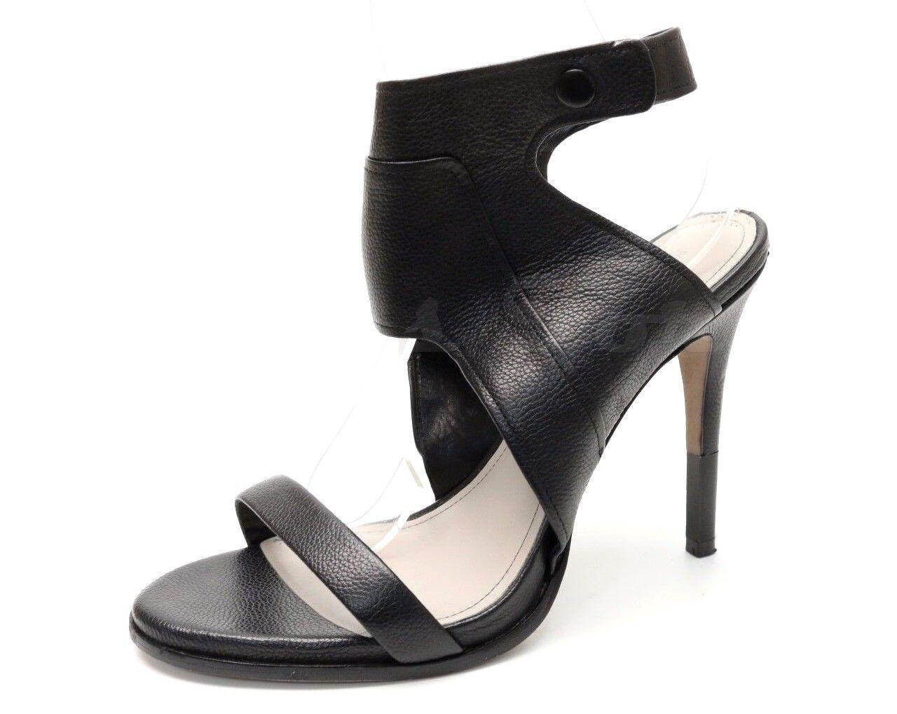 Womens POUR LA VICTOIRE black leather ankle strap sandals sz. 10
