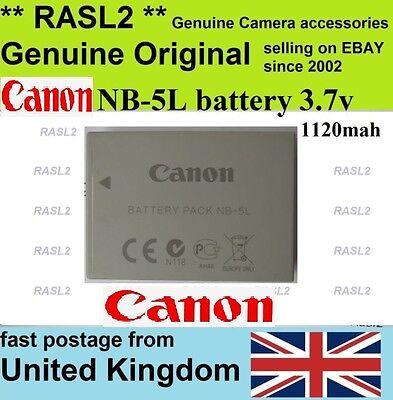 Genuine Original  CANON NB-5L Battery, Powershot SX230 SX220 HS , SX200 SX210 iS