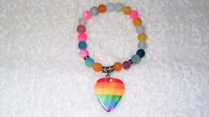 LGBTQ-Gay-Frosted-Dragon-Vein-Agate-Bracelet-Stretch-Jewelry-Rainbow-Guitar-Pick