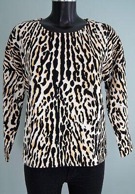 pull léopard jaune maje