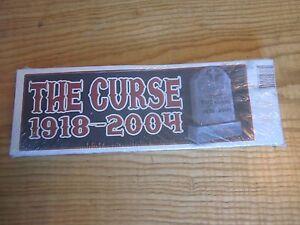 2004 Boston Red Sox The Curse 1918 - 2004 RIP World Champions bumper stickers