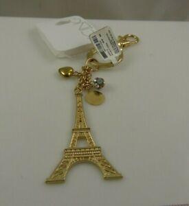 bag-tag-bling-Key-chain-keychain-bag-charm-Eifel-tower-eiffel-gold-tone
