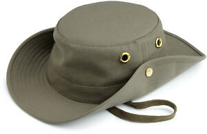 Tilley T3 The Wanderer Olive Fitted Broad Brim Tilley Fitted Hat  4a8b79941ce4