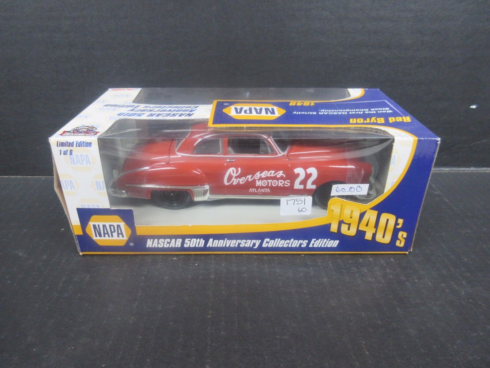 1998 Action NAPA 1949 1949 1949 Overseas Motors Red Byron 1 24th  race car 4baee0