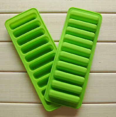 10-Bar Strip Cake Mold DIY Flexible Silicone Chocolate Mould ice lattice tray