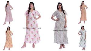 10-PC-Wholesale-Lot-Women-Nightwear-Floral-Print-100-Cotton-Long-Sleeve-Nightie