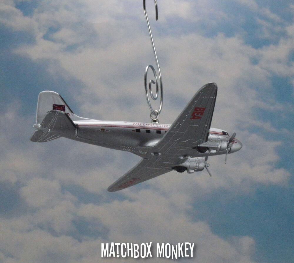 BEA BEA BEA británico Douglas DC-3 Personalizado Navidad Ornamento avión avioneta aviones 9bd6aa