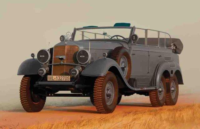 ICM 35538 - 1:35 Typ G4 (Kfz.21), WWII German Staff Car - Neu