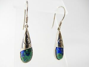 Sajen-925-Sterling-Silver-Blue-Green-Drop-Dangle-Earrings