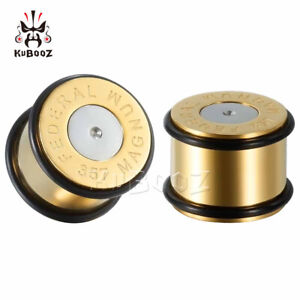 Gold-Bullet-Shape-Design-Ear-Gauges-and-Ear-Tunnels-Body-Jewelry-Ear-Plugs-2pcs