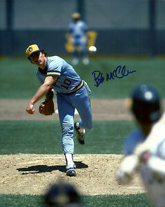 Brewers Pitcher BOB McCLURE Signed 8x10 Photo #2 AUTO - 1982 World Series